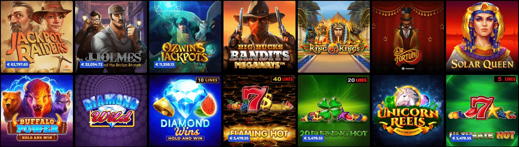 Jackpot-Spiele im N1 Casino